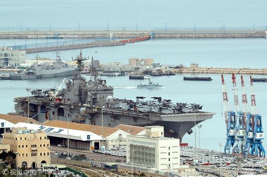 中企赢下租用以色列海法港口25年的公约,此地也是美军第六舰队驻地 图源:视觉中国