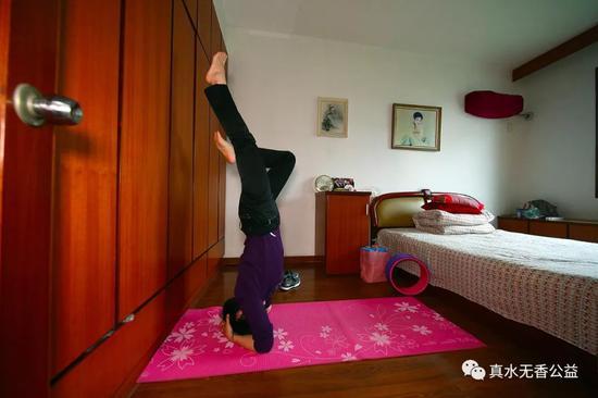 瑜伽是杨静坚持了多年的锻炼