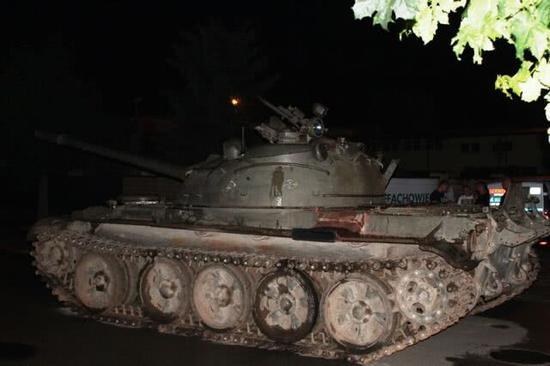 被查扣的T-55坦克 图片来自波兰媒体