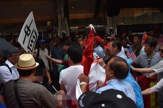 抗议人群(图源:联合新闻网)