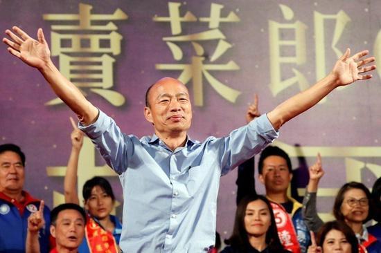 初选压倒性胜出 韩国瑜:没有一丝一毫的喜悦