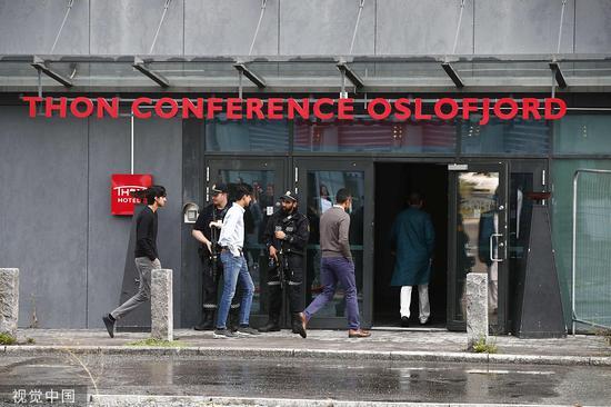 枪击产生 后,挪威警方增强安保