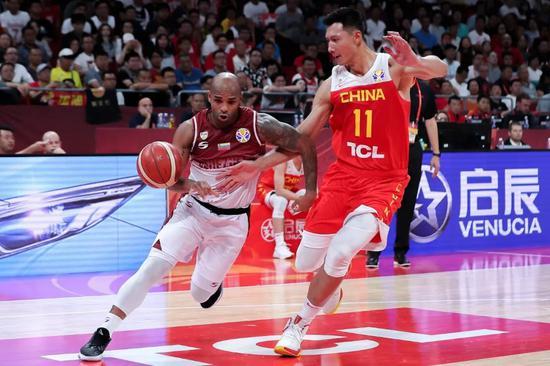 9月4日,2019男篮世界杯小组赛A组,委内瑞拉VS中国