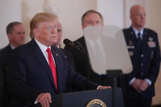 美国总统特朗普8日说,美方将立即对伊朗实走新的经济制裁。 新华社/路透