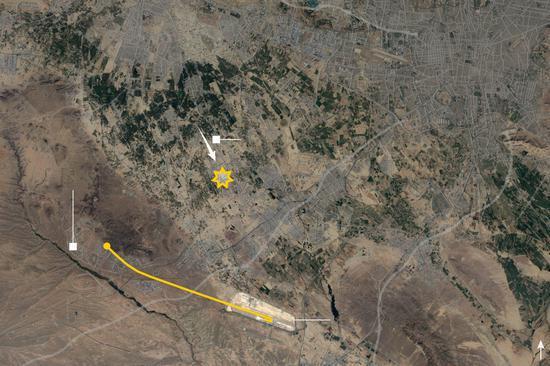 乌克兰PS752航班飞走路线图。来源:纽约时报
