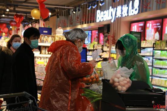 黄冈市区某超市