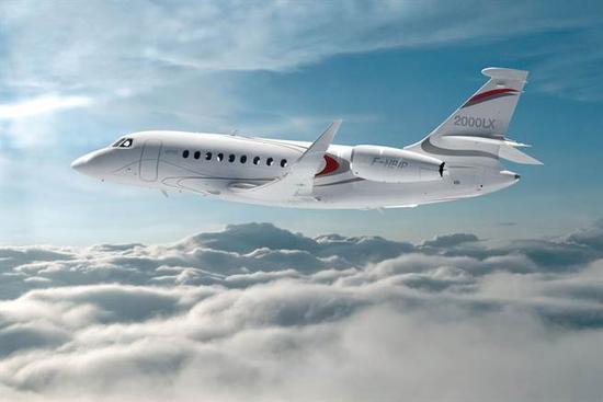 达索猎鹰2000LXS公务机 图片来自达索官网