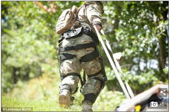 美国士兵在田园测试该装备 图据《每日邮报》