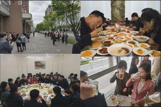朝鲜民众在餐馆享受美味(拉美社)
