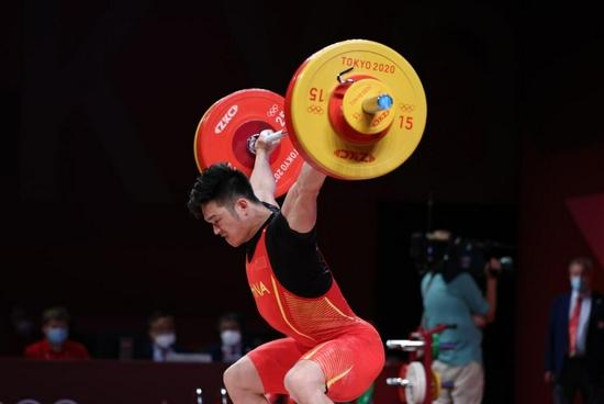 第12金!石智勇夺得举重男子73公斤级金牌
