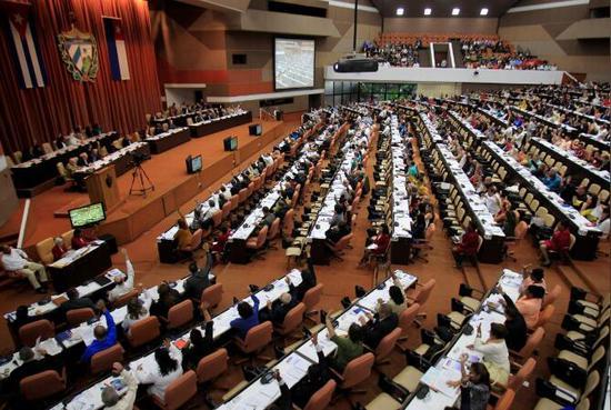 12月21日,古巴哈瓦那举走的国民议会会议(图:路透)