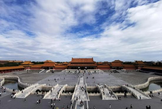 这是2020年9月10日拍摄的故宫。新华社记者 金良快 摄