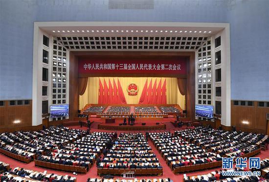 3月5日,第十三届全国人民代表大会第二次会议在北京人民大会堂开幕。新华社记者 张领 摄
