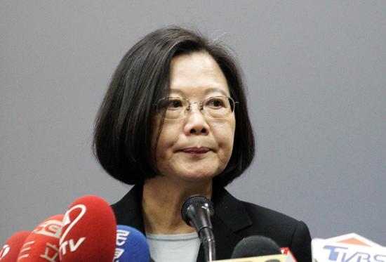 蔡英文已辞去民进党主席职务(图片来源:台媒)