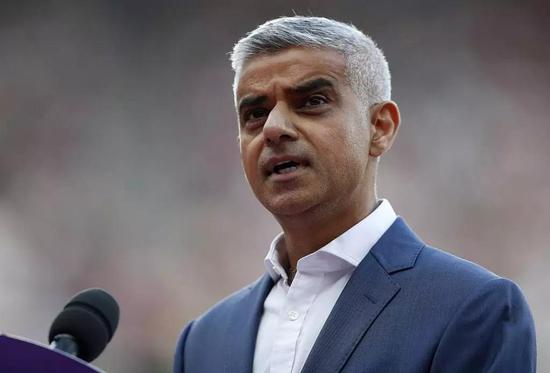 伦敦市长萨迪克·汗。图/视觉中国