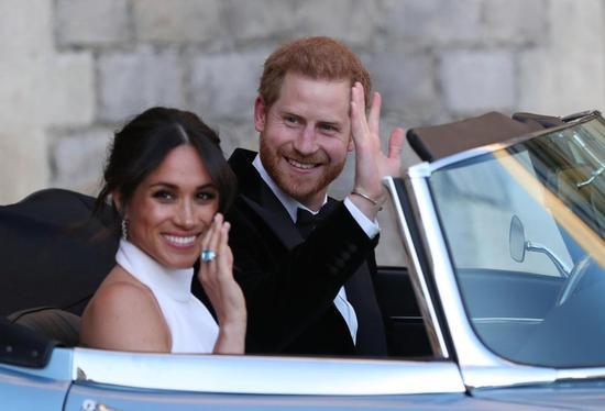 哈里王子与梅根王妃。(太阳报)