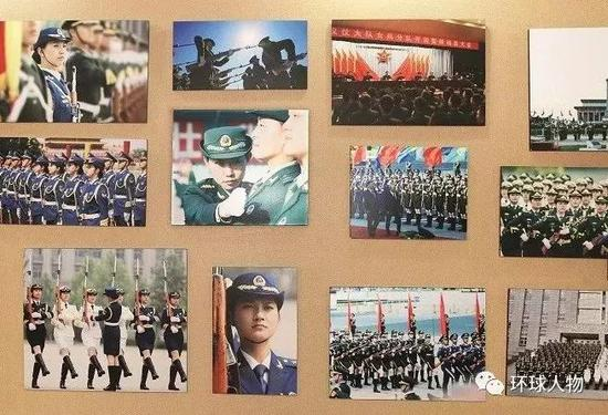 中国人民解放军仪仗大队队史馆内陈列。(本刊记者 侯欣颖 / 摄)