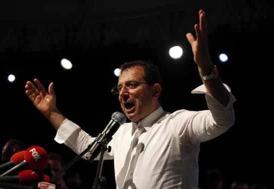 3月份选举中,反对派市长当选人伊马姆奥卢。(图:美联)