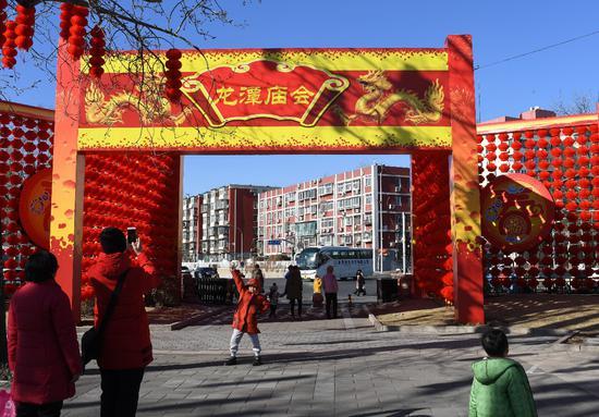 2020年1月21日,第三十五屆龍潭湖春節文化廟會將于1月25日(正月初一)開門迎客。胡鐵湘攝