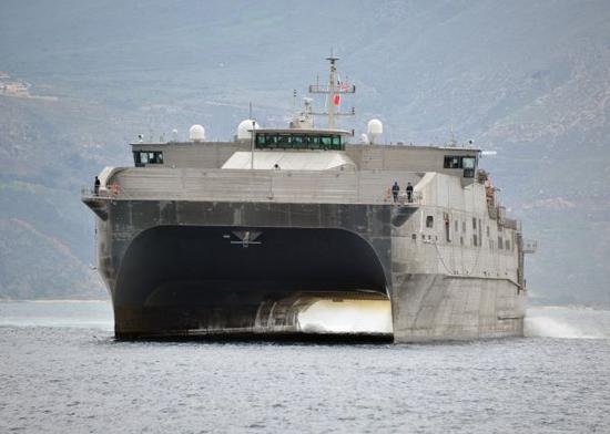 资料图片:美海军先锋级联合高速运输舰(JHSV)。