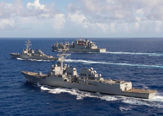 原料图:美国海军驱逐舰舰队