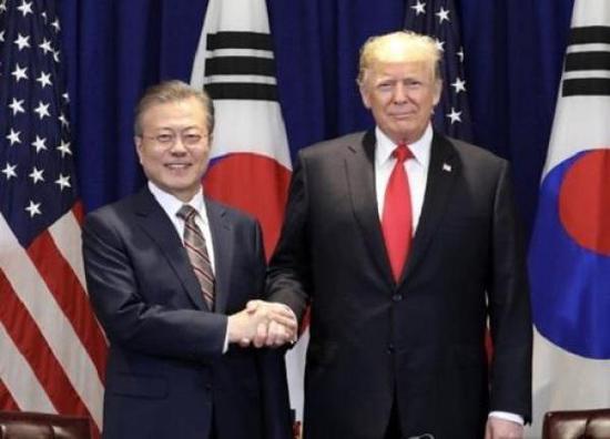 美国总统特朗普与韩国总统文在寅将再次会晤。