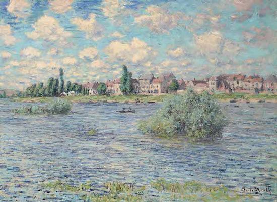 莫奈,《拉瓦古的塞纳河》,1879年,成交价格:15,837,500美元