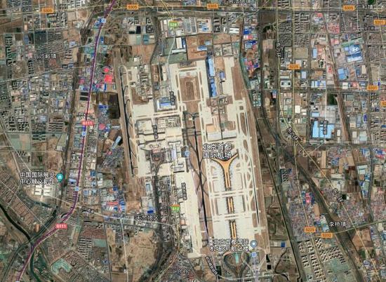 北京首都機場衛星圖