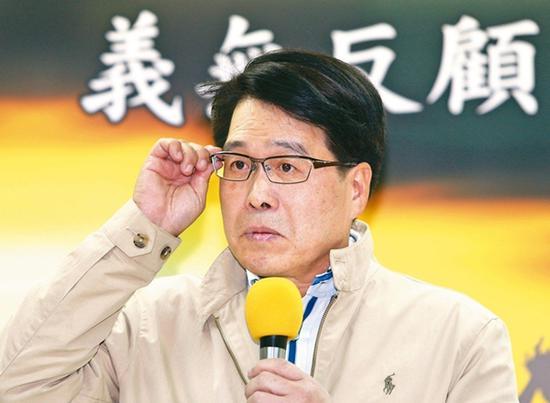 """参选民进党主席补选的""""台湾民意基金会""""董事长游盈隆。(图片来源:台湾《说相符报》)"""