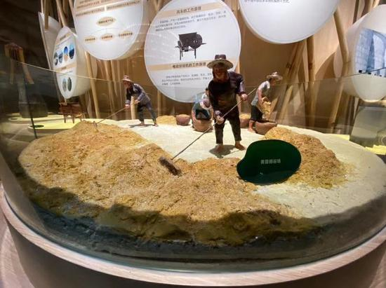博物馆内还原了中国人民的稻作文化。新京报记者 王巍 摄