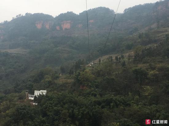 罗玉京的家在这座大红岩下