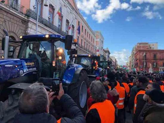农民们要求赔偿生产损失。(社交平台)