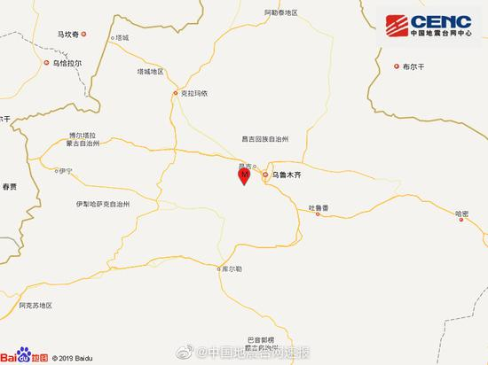 地震快讯!新疆昌吉州昌吉市发生3.0级地震