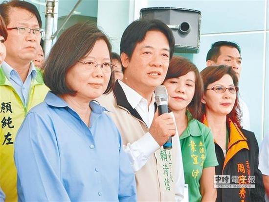 """蔡英文(左)与赖清德原料图(图片来源:台湾""""中时电子报。"""")"""