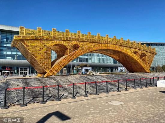 """▲资料图片:2019年3月13日,北京,丝路金桥 """"一带一路""""的文化桥。"""