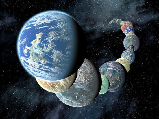 ∆类地行星有着不同的大小和成分。图据NASA