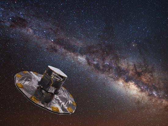 ∆盖亚宇宙飞船绘制的银河系恒星图。图据欧洲航天局