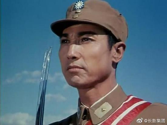 白德彰在电影《吉鸿昌》中的银幕形象。