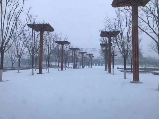 世园会雪景。张静 摄