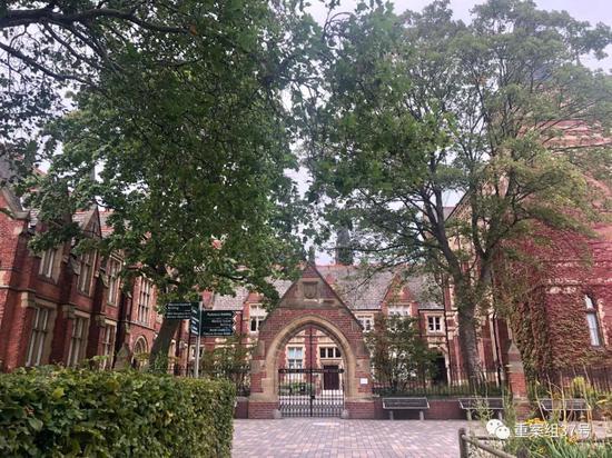▲秋天的英国利兹大学纺织学院。受访者供图