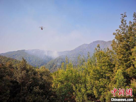 图为火灾现场。云南省森林消防总队供图
