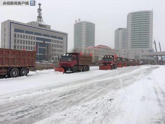辽宁出现大范围降雪 多条高速管制机场受影响