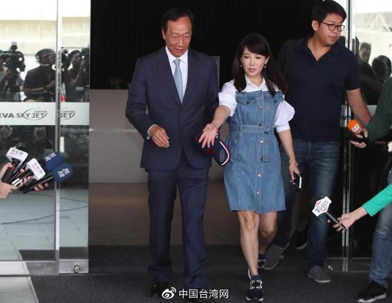 郭台铭结束中东行程,30日返回台湾