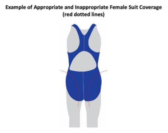 合适与不合适的女式泳衣的例子 图 via CNN