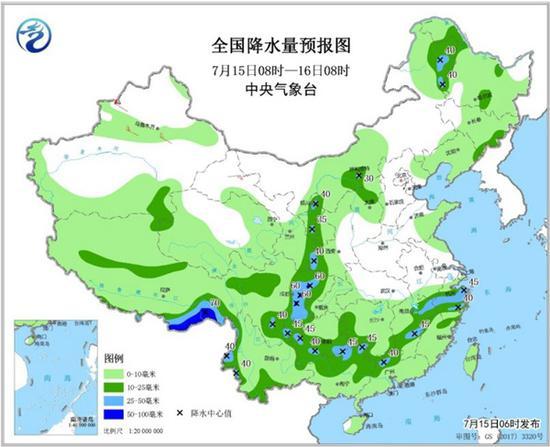 南方強降雨落區將北抬 東北華北雷雨頻繁