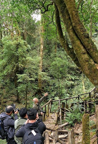 中科院植物所李渤生教授给大家讲解古茶生态系统的更迭演变