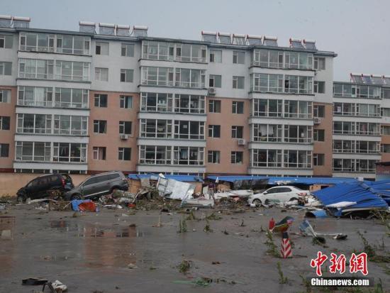 洪水过后,永吉县城一片狼籍。苍雁 摄