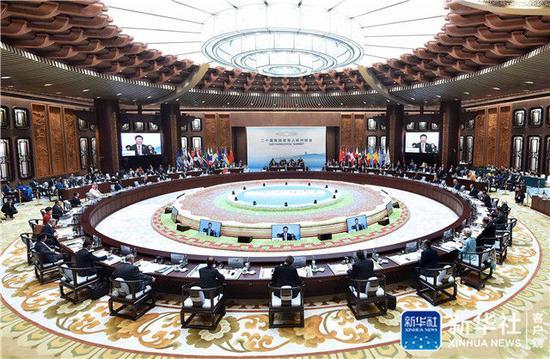 2016年9月4日,二十國集團領導人第十一次峰會在杭州國際博覽中心舉行。習近平主持會議并致開幕辭。新華社記者 李濤 攝