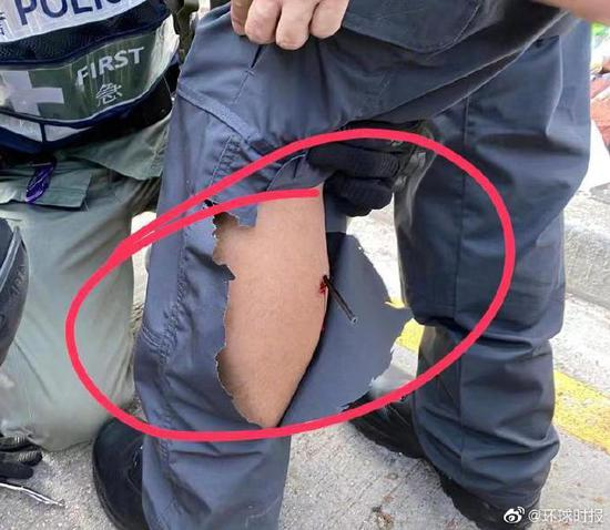 香港理工大學對峙現場一位港警中箭(圖)