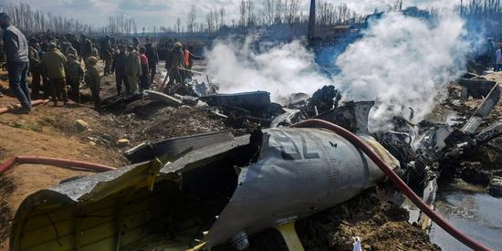 印度空军直升机被误击 图源:印度国防部